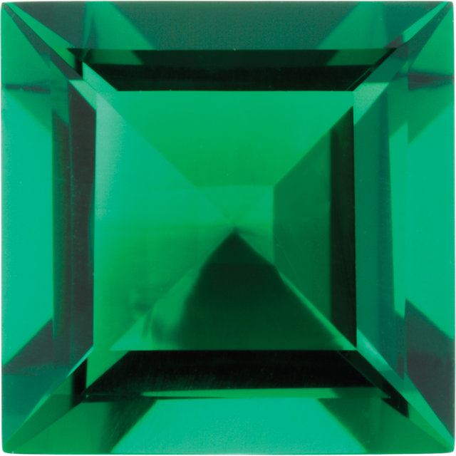 Imitation Emerald Square Cut Stones