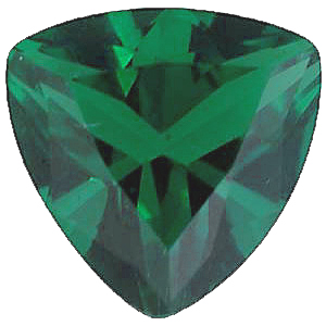 Imitation Emerald Trillion Cut Stones