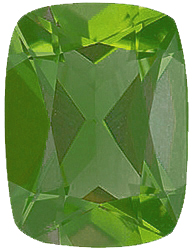 Imitation Peridot Antique Cushion Cut  Stones