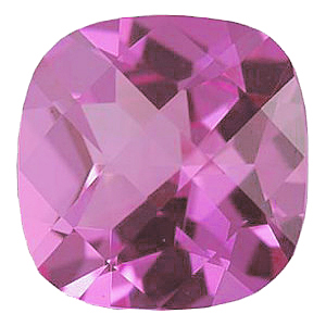 Imitation Pink Tourmaline Antique Square Cut Checkerboard Stones