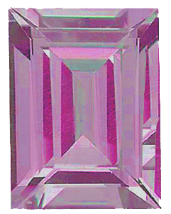 Imitation Pink Tourmaline Cushion Cut Stones