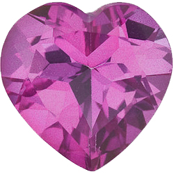 Imitation Pink Tourmaline Heart Cut Stones
