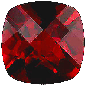 Imitation Red Garnet Antique Cushion Cut Checkerboard Stones