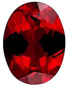 Imitation Red Garnet Oval Cut Stones