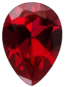 Imitation Red Garnet Pear Cut Stones