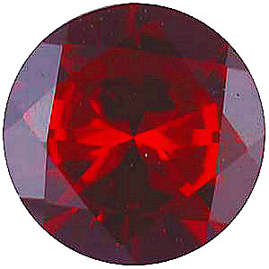 Imitation Red Garnet Round Cut Stones
