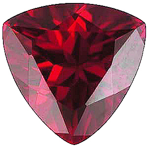 Imitation Red Garnet Trillion Cut Stones
