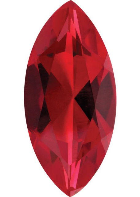 Imitation Ruby Marquise Cut Stones