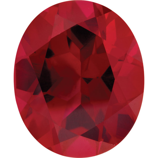 Imitation Ruby Oval Cut Stones