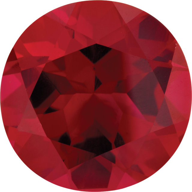 Imitation Ruby Round Cut Stones