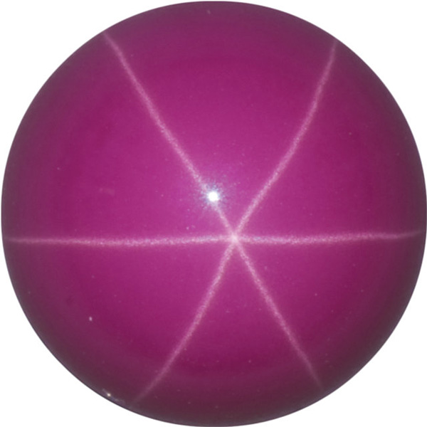 Imitation Star Ruby Round Cut Stones