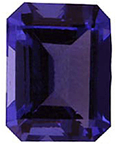 Imitation Tanzanite Emerald Cut Stones