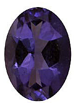 Imitation Tanzanite Oval Cut Stones