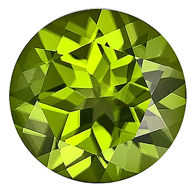 Impressive 13mm Top GEM Natural Peridot Gemstone, Round Cut, 8.44 carats
