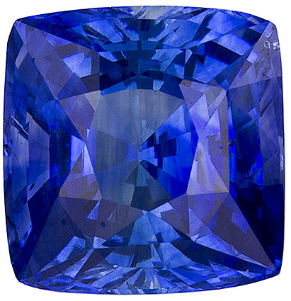 Impressive Blue Ceylon Sapphire, Top Gem in 7.5 x 7.3 mm, Cushion Cut, 3.10 carats