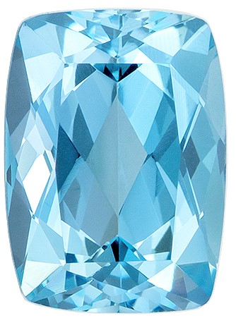 A Beauty of A Gem  Blue Aqua Genuine Gemstone, 1.38 carats, Cushion Shape, 7.9 x 5.7 mm