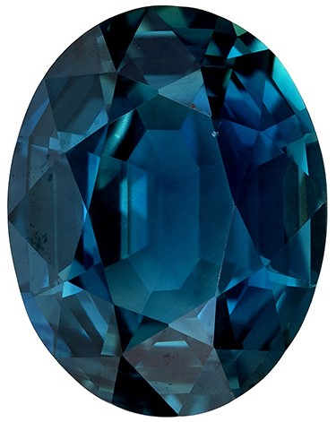 Impressive Gem  Blue Green Sapphire Genuine Gemstone, 4.08 carats, Oval Shape, 10.8 x 8.4 mm