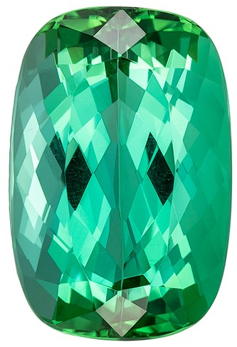 Hard to Find Gem  Blue Green Tourmaline Genuine Gemstone, 7.74 carats, Cushion Shape, 14.3 x 9.4 mm