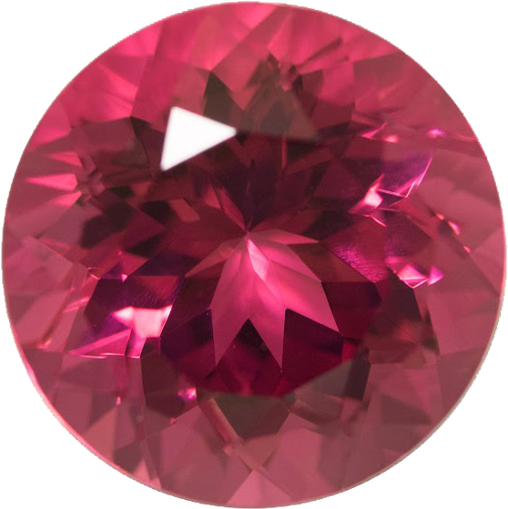 Impressive Gem in Rubelite Tourmaline Gem in Octagon Cut, Dark Pinkish Red Color German Cut, 14.0 mm, 10.26 carats