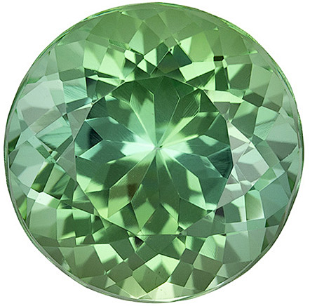 Impressive Gem in Sea Foam Blue Green Tourmaline, 12.2 mm, Round Cut, 7.45 carats