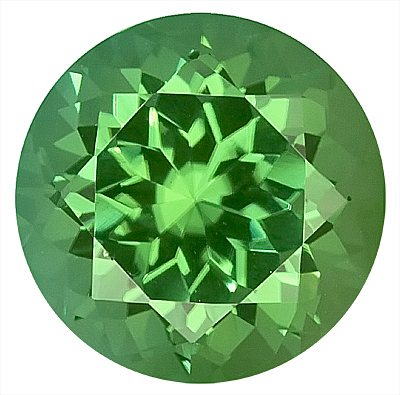 Impressive Green Tourmaline Natural Gemstone for SALE - Great for Jewelry,  Round Cut, 9.1 x 9 mm, 2.86 carats