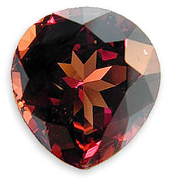 Impressive Malaia Garnet Gemstone - Hot Red to Tawny Brown, Pear Cut, 5.60 carats