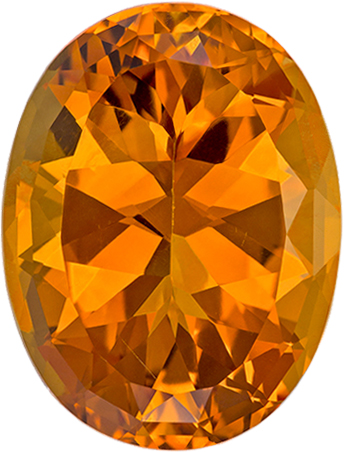 Impressive Orangey Gold Citrine Gem in Oval Cut, 19.9 x 15.2 mm, 16.52 carats