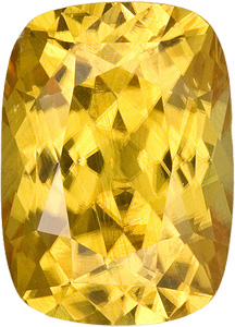 Impressive Rich Yellow Zircon Natural Gem- Great Size! Cushion Cut, 4.35 carats