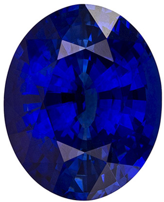 Impressive GIA Blue Sapphire Loose Gem, Oval Cut, Vivid Rich Blue Color in 3.33 carats , 9.98 x 8.02 x 5.45 mm GIA Certified