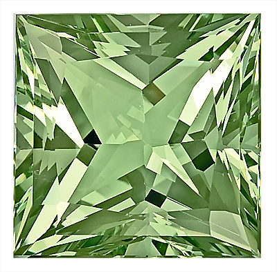 Impressive Size and Quality! Rare, Huge Unheated Green Beryl Genuine Gem, Princess Cut, 21.1 x 21.1 mm, 42.77 carats