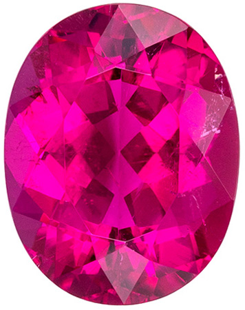 Loose Fushcia Colored Rubellite Tourmaline Gemstone, Rich Fuchsia Color in Oval Cut, 10.1 x 7.9 mm, 2.74 carats