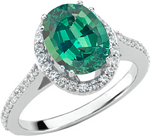 Incredible 1 carat GEM Dramatic 100% Color Change 7.00 x 5.00 mm Alexandrite Mounted in Fine Diamond Ring Mounting on SALE