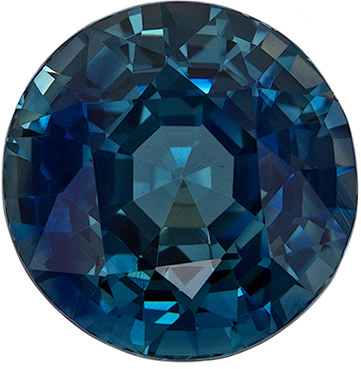 Incredible Beautiful Blue Teal Green Sapphire Round Cut, 5.93 carats, 10.2 mm, Impressive