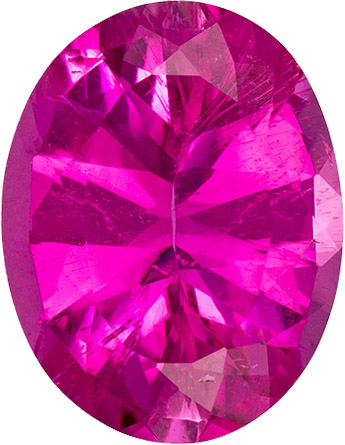 Incredible Hot Pink Colored Tourmaline Gem in Oval Cut, 11.1 x 8.7 mm, 2.85 carats