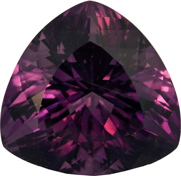 Incredible Size and Beauty in Amethyst Loose Gem in Trillion Cut, 22.3 mm, 36.10 carats