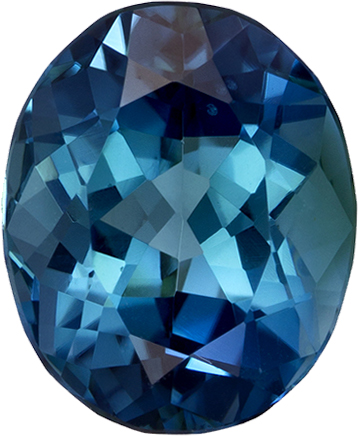 Indicolite Rich Blue Tourmaline Gem in Oval Cut, 8.7 x 7.1 mm, 1.95 carats