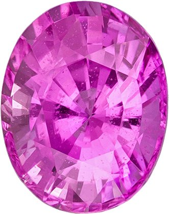 Intense Pink Sapphire Engagement Ring Stone in Oval Cut, Intense Rich Pink Color in 7.4 x 5.9 mm, 1.59 carats