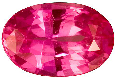 Intense Pink Sapphire Genuine Gemstone for SALE, Oval Cut, 1.62 carats