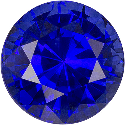 Intense Pure Blue Ceylon Sapphire - Super Fine Stone, 6.9 mm, Round Cut, 2.08 carats