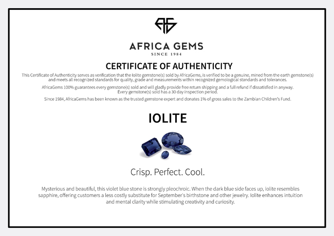 Iolite Gemstones in Oval Cut - Calibrated