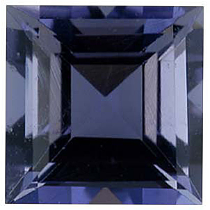 Iolite Gemstones in Square Cut - Calibrated