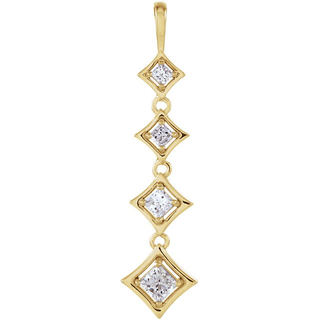 Journey 4-Stone Diamond Pendant
