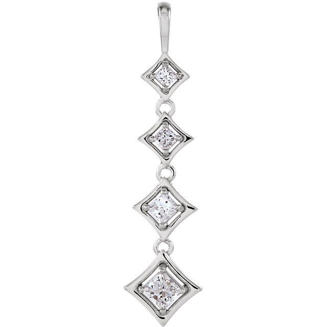 Appealing Jewelry in Journey 4-Stone Diamond Pendant