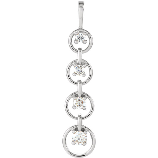 Chic Journey Diamond Circle Pendant
