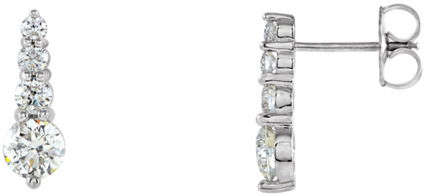 Journey Diamond Earring