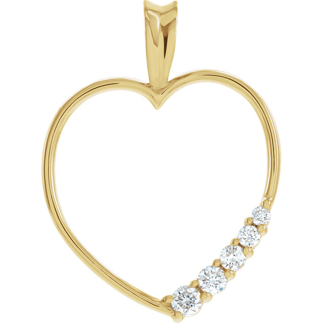 Contemporary Journey Diamond Heart Pendant