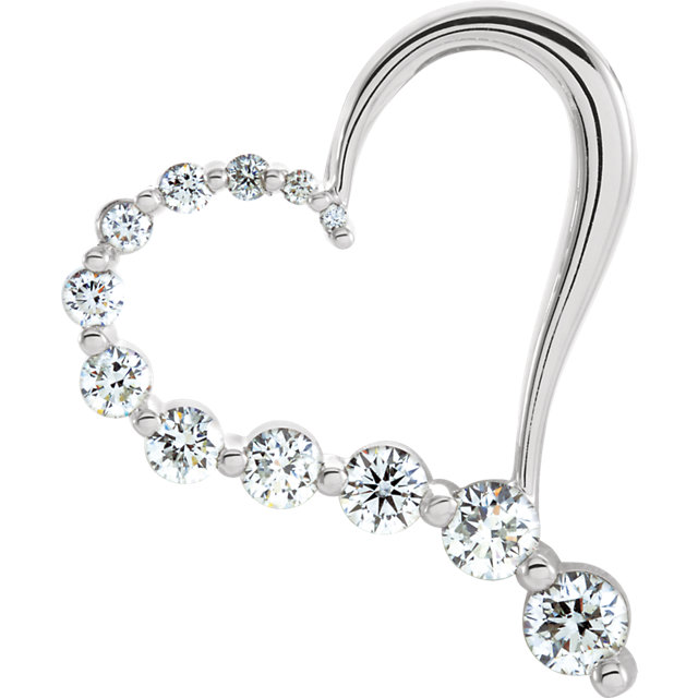 Wonderful Journey Diamond Heart Pendant