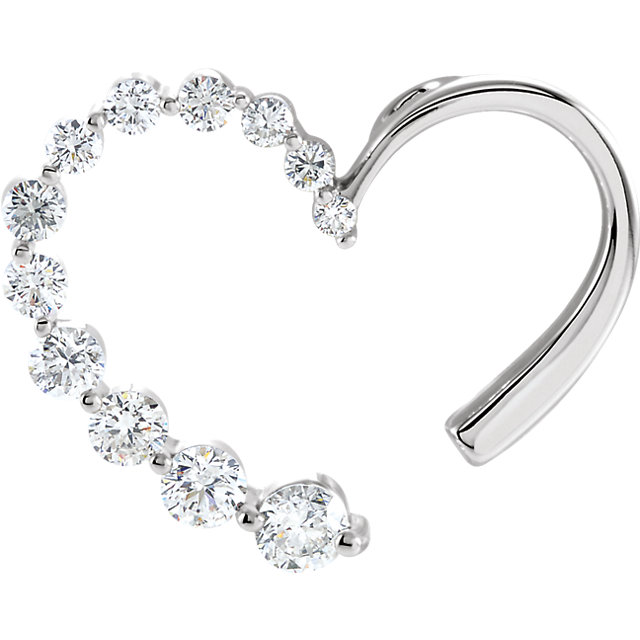 Great Deal in Journey Diamond Heart Pendant