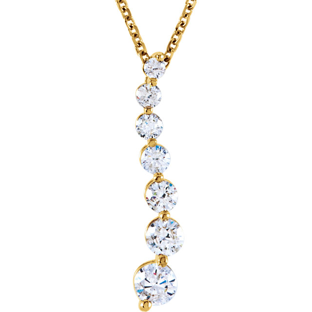 Easy Gift in 14 Karat Yellow Gold 0.50 Carat Total Weight Diamond Journey 18
