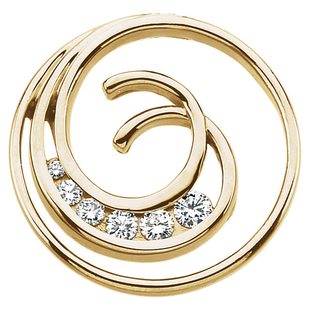 Surprise Her with  Journey Diamond Spiral Pendant